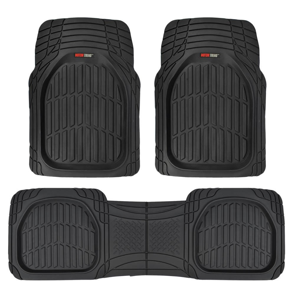 Motor Trend MT-923-BK FlexTough Contour Liners - Deep Dish Heavy Duty Rubber Floor Mats for Car SUV Truck & Van