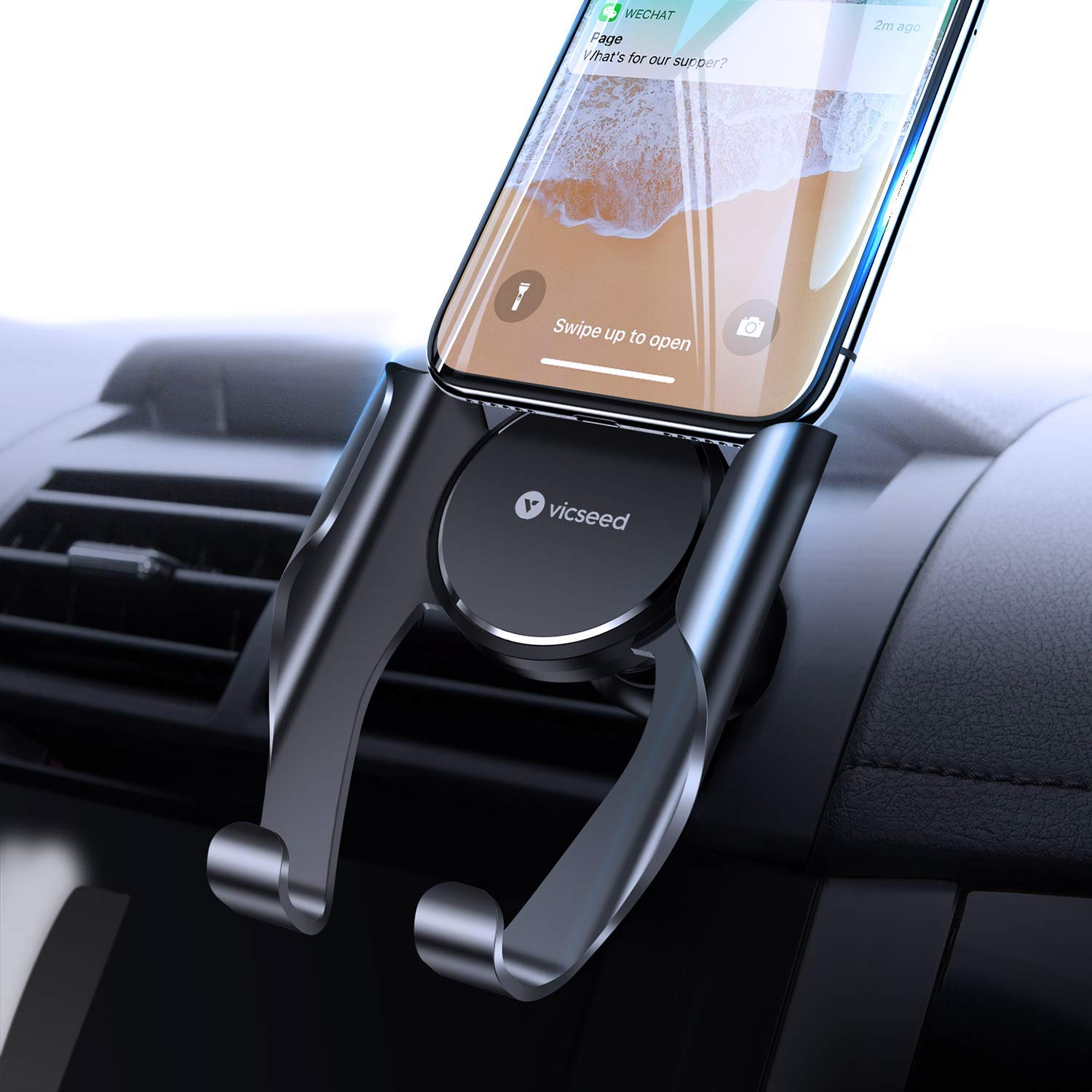 VICSEED Car Phone Mount, Air Vent Phone Holder for Car, Handsfree Cell Phone Car Mount
