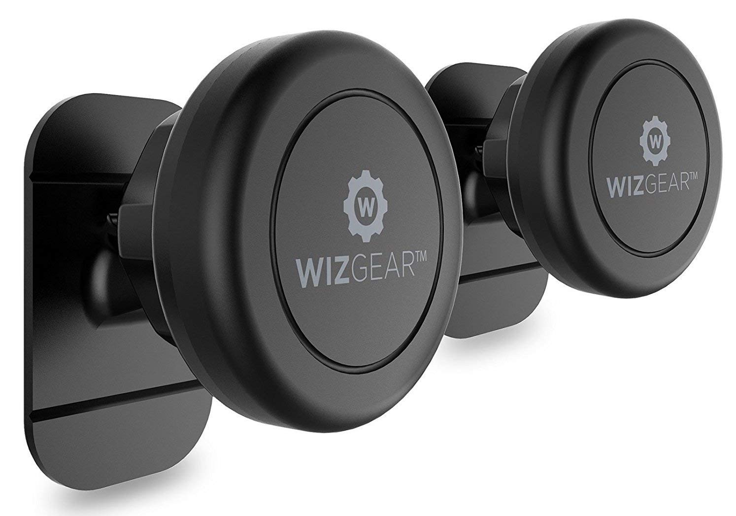 Magnetic Mount, WizGear Universal Stick On (2 Pack) Dashboard Magnetic Car Mount Holder