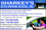 Sharkey's Auto Driving School logo